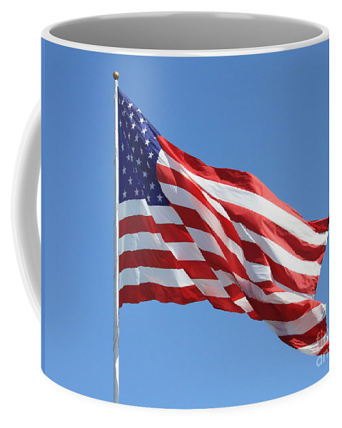 Flag Coffee Mug featuring the photograph American Flag by Carol Groenen