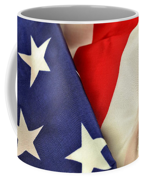 Patriotism Coffee Mug featuring the photograph American Flag by Douglas Sacha