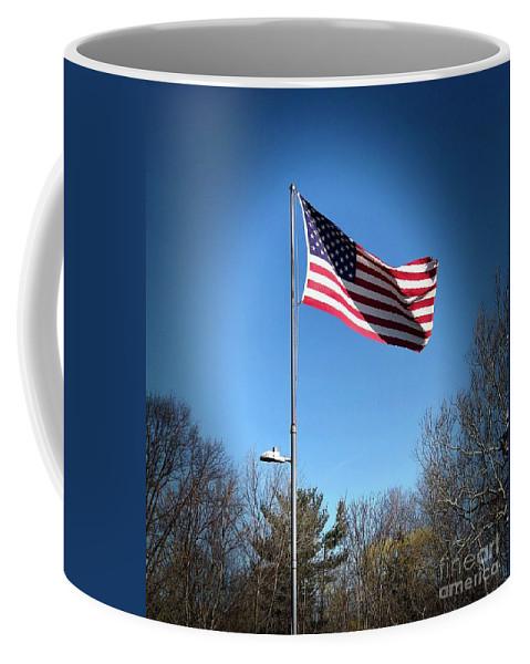American Flag Coffee Mug featuring the photograph American Flag by Lisa Soreo