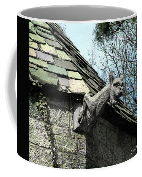 Architecture Coffee Mug featuring the photograph American Gargoyle by RC DeWinter