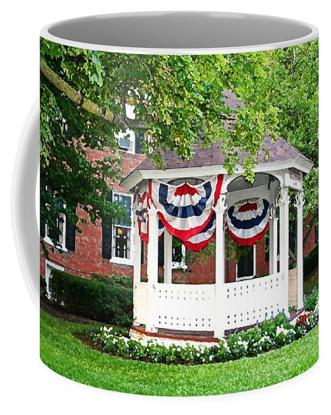 Gazebo Coffee Mug featuring the photograph American Gazebo by Margie Wildblood
