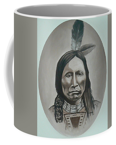 Michael Coffee Mug featuring the painting American Horse by Michael TMAD Finney