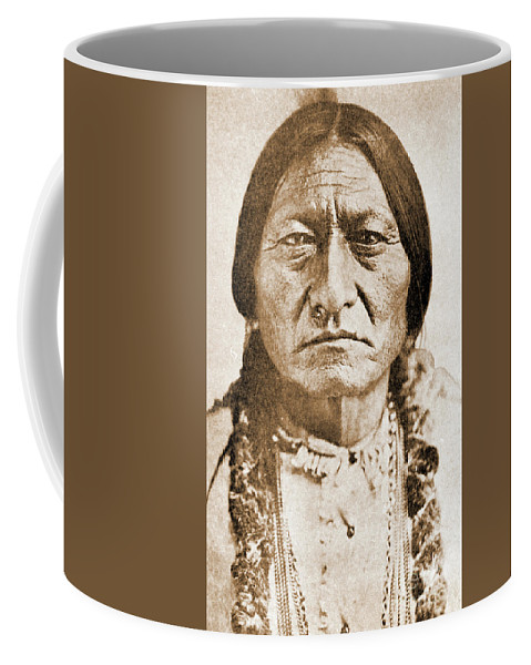 American Coffee Mug featuring the photograph American Indian Chief by Gary Wonning