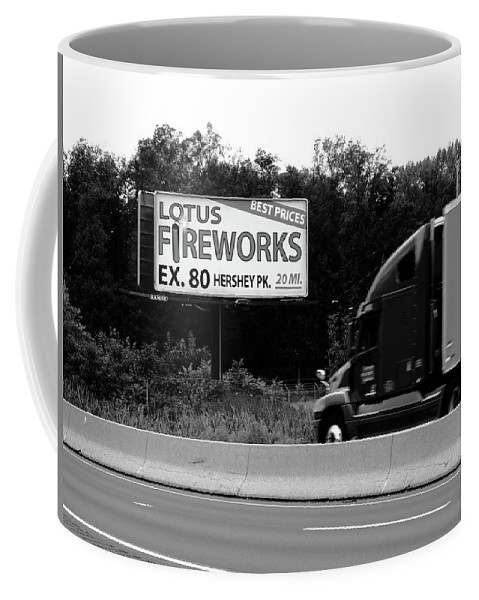 80 Coffee Mug featuring the photograph American Interstate - Pennsylvania I-80 Bw 2 by Frank Romeo