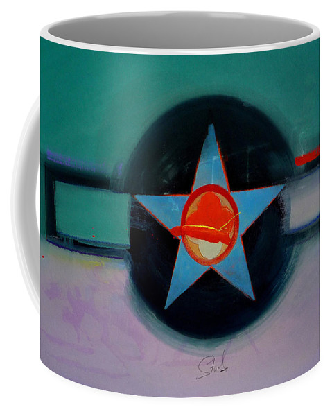 Star Coffee Mug featuring the painting American Landscape by Charles Stuart