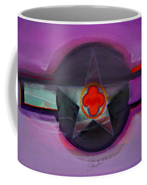 Star Coffee Mug featuring the painting American Lilac by Charles Stuart