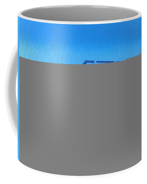 Americana Coffee Mug featuring the painting American Muscle Car by Leon Keay