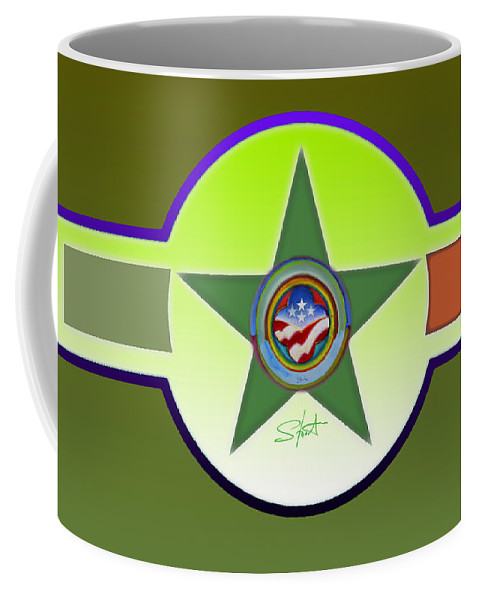 Insignia Coffee Mug featuring the painting American Olive by Charles Stuart