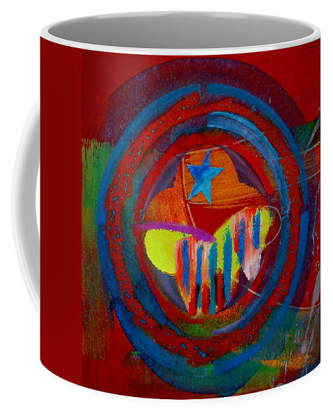 Button Coffee Mug featuring the painting American Pastoral by Charles Stuart