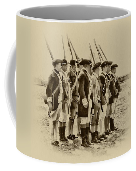 Fort Coffee Mug featuring the photograph American Soldiers At Fort Mifflin by Bill Cannon
