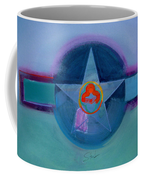 Star Coffee Mug featuring the painting American Spiritual by Charles Stuart