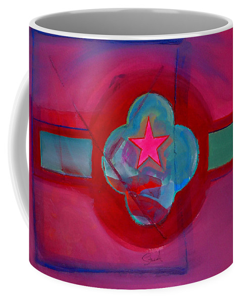 Star Coffee Mug featuring the painting American Spiritual Decal by Charles Stuart