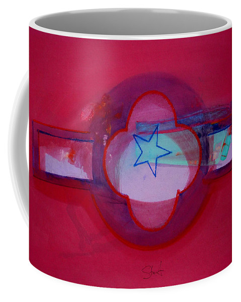 Star Coffee Mug featuring the painting American Star Of The Sea by Charles Stuart