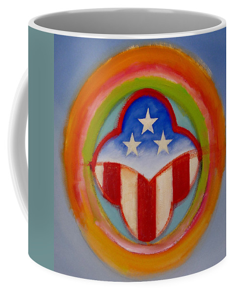 Logo Coffee Mug featuring the painting American Three Star Landscape by Charles Stuart
