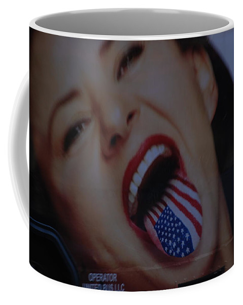 American Flag Coffee Mug featuring the photograph American Tounge by Rob Hans