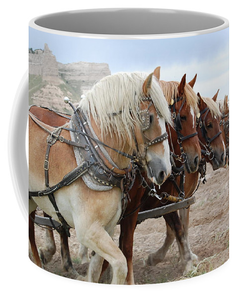 Horses Coffee Mug featuring the photograph American Work Horse by Patty Vicknair