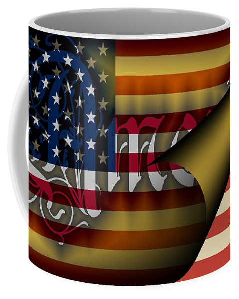 America Coffee Mug featuring the digital art Americas New Design 2009 by Helmut Rottler
