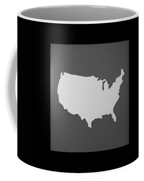 Black And White Coffee Mug featuring the photograph Amerika by Rob Hans