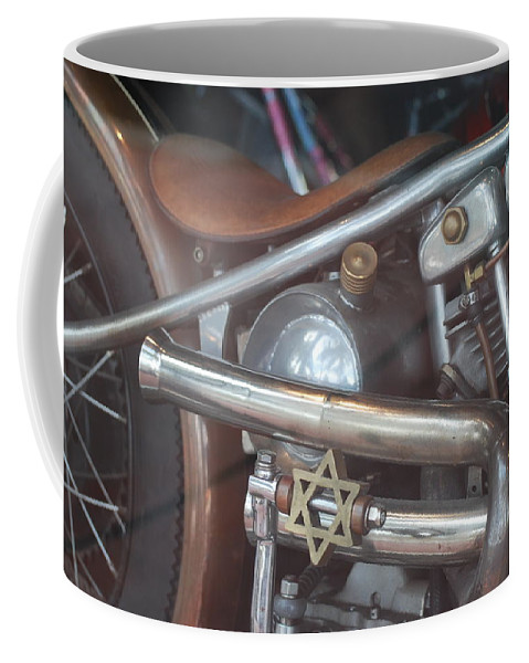 Motorcycle Coffee Mug featuring the photograph Ami's Bike by Rob Hans
