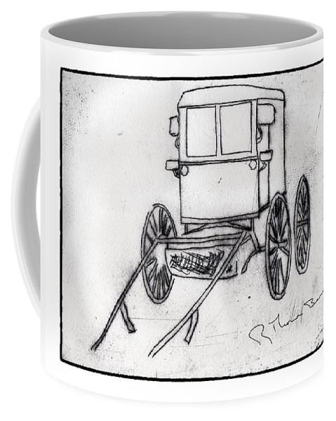 Amish Coffee Mug featuring the photograph Amish Buggy by R Thomas Berner