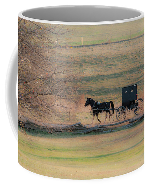 Amish Coffee Mug featuring the photograph Amish Dream by David Arment
