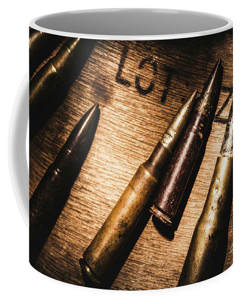 Ammo Coffee Mug featuring the photograph Ammo Supplies by Jorgo Photography - Wall Art Gallery