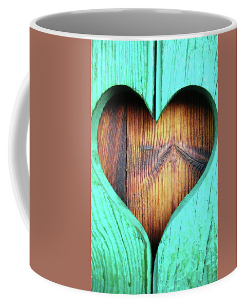 Heart Coffee Mug featuring the photograph Amor ... by Juergen Weiss