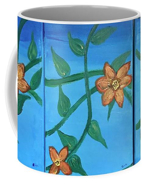 Nature Coffee Mug featuring the painting Amor Omnia Vinvit by Charu Rajagopalan