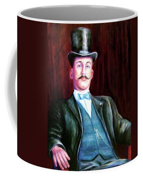Portrait Coffee Mug featuring the painting Amos Mckay by Shannon Grissom
