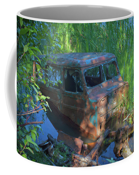 Nature Coffee Mug featuring the photograph Amphibious Vehicle by Cathy Mahnke