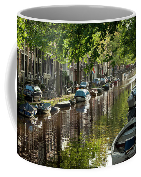 Age Coffee Mug featuring the photograph Amsterdam Canal by Joan Carroll