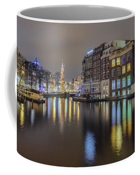 Amsterdam Coffee Mug featuring the photograph Amsterdam Colors by Nadia Sanowar