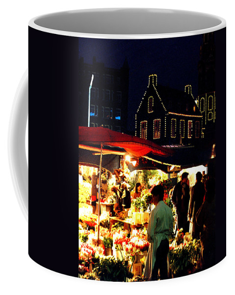 Flowers Coffee Mug featuring the photograph Amsterdam Flower Market by Nancy Mueller