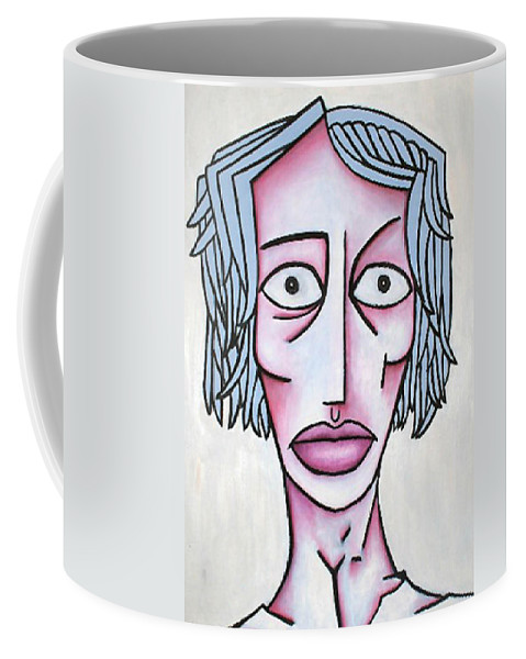 Potrait Coffee Mug featuring the painting amy by Thomas Valentine