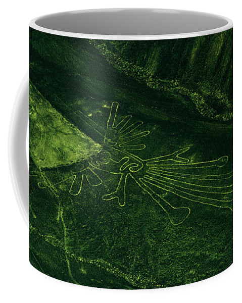 South America Coffee Mug featuring the photograph An Aerial View Of The Nazca Lines. They by Bates Littlehales