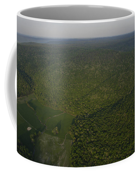 Cumberland Plateau Coffee Mug featuring the photograph An Aerial View Shows The Cumberland by Stephen Alvarez