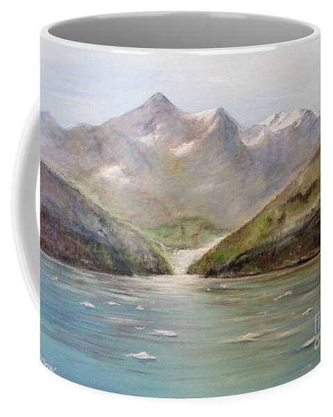 Alaska Coffee Mug featuring the painting An Alaskan View by John Garland Tyson