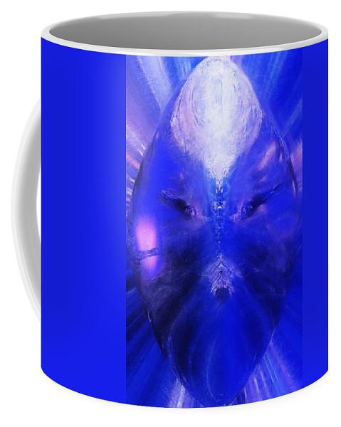 Digital Painting Coffee Mug featuring the digital art An Alien Visage by David Lane