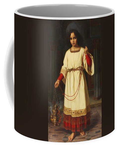 An Altar Boy Coffee Mug featuring the painting An Altar Boy by Abraham Solomon