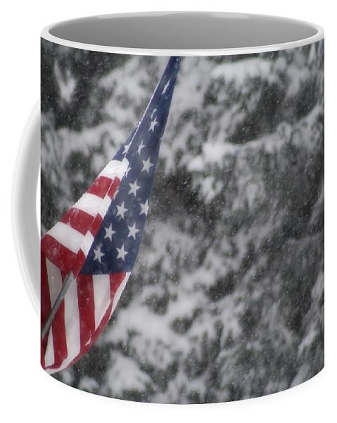 American Coffee Mug featuring the photograph An American Winter by Kimberly Jones