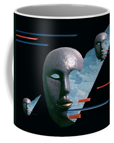 Surreal Coffee Mug featuring the digital art An Androids Dream by Steve Karol