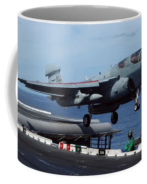 Horizontal Coffee Mug featuring the photograph An Ea-6b Prowler Launches by Stocktrek Images