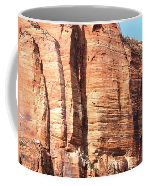 An Eagle Soars Coffee Mug featuring the photograph An Eagle Soars by Will Borden