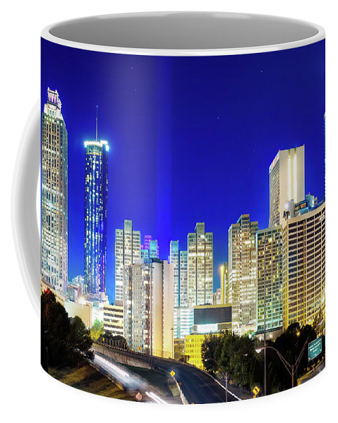 Atlanta Coffee Mug featuring the photograph An Evening In Atlanta by Mark Andrew Thomas