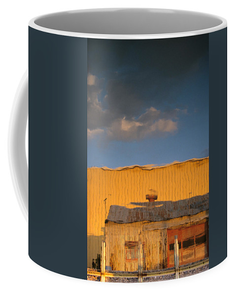 Dock Coffee Mug featuring the photograph An Illusion Created By A Reflection by John Harmon
