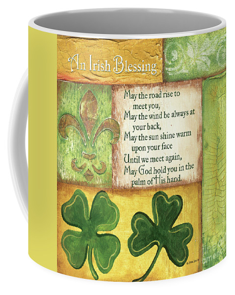 Irish Coffee Mug featuring the painting An Irish Blessing by Debbie DeWitt