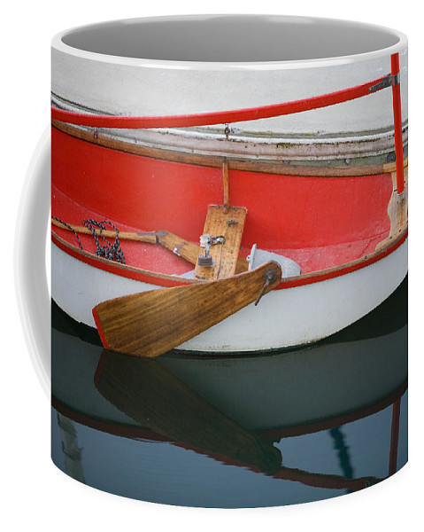 Boat Coffee Mug featuring the photograph An Old Sailboat Tied To The Dock by Michael S. Lewis