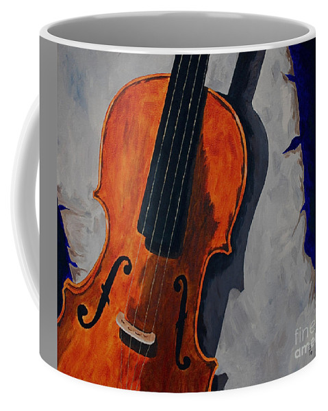 Violin Music Old Song Coffee Mug featuring the painting An Old Song by Herschel Fall