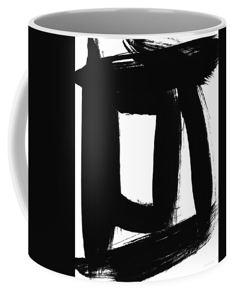 Black Coffee Mug featuring the painting An Open Window- Art By Linda Woods by Linda Woods