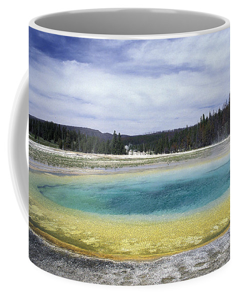Upper Coffee Mug featuring the photograph An Upper Geyser Basin At Chromatic by Richard Nowitz